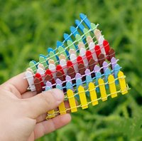 El yapımı Mini Çit Bariyer Ahşap El Yapımı Mini Çit Bariyer Ahşap Craft Minyatür Peri Bahçe Şube Palings Showcase SN3830