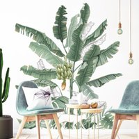 Wall Stickers Banana Tree For Living Room Bedroom Decor Green Leaf Decals Removable Sticker Home Decoration