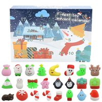 24 PCS Squishies Mochi Squishy Toys Mini Christmas Kawaii Cat Animals Squeeze Stress Relief Toy Stuffers with Gift Box Party Favors Easter Egg Filler for Kids