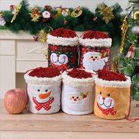 Noel Ekose İpli Çanta Kardan Adam Noel Baba Depolama Dekorasyon Çanta Pazen Beraberlik Kılıfı Almak için Elma Bundle FWB9128