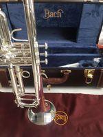Bach Stradivarius Trompet Modeli 37 Gümüş Kaplama LT180S-37 Trumpete Taits Orijinal Mavi Durumda