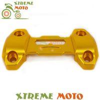 Рулевые марки золотые алюминиевые мотоцикла руль ручки ручки бар жирный стояк крепление зажима верхняя крышка для MT09 FZ09 MT-09 FZ-09 2013 2014 2021