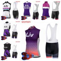 Liv Team Womens Cycling Senza maniche Jersey 9D Pad Bib Bib Bib Set Summer Quick Dry MTB ESTERNO GIAMICIA ESTERNY Jersey Set Ciclismo S080710
