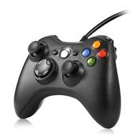 Para Xbox 360 USB Wired GamePad Manija Soporte Win7 / 8/10 System Controle Joystick Xbox360 Slim / Fat / E Console Controller JoyPAD Gratis