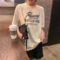 Harajuku fresco camisetas Imprimir Corto Mouw Streetwear Casual Top letra impresa Mujer camiseta de gran tamaño