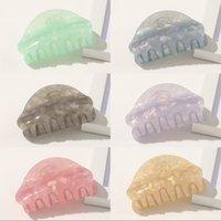 6 colori marmo colorato ragazze perni per capelli crab craw morsetto da donna barrette in acrilico clip per capelli accessori per capelli copricapo 1361 B3