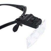 현미경 및 액세서리 9892B 안경 돋보기 수리 보석 돋보기 도구 5 교체 된 머리띠 머리 유리 조명 LED 독서 렌즈 yars