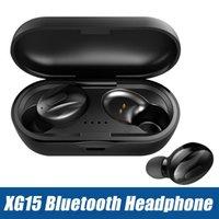 Fones de ouvido sem fio Bluetooth Fones de ouvido XG15 TWS Mini 5,0 Som Estéreo Earbuds no ouvido com caixa de carregamento para celular com pacote de varejo