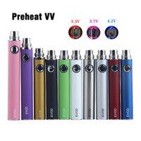 EVOD Preheat VV vaporizzatore batteria 1100 900 650 mAh Tensione variabile E sigaretta 510 Thread Vape Pen e-cig Ego-T MT3 CE4 CE5