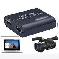 Cavi per computer Connettori ESHOWEE 4K Loop Out -compatible Capture Card Audio Video Placca di registrazione USB 1080p Grabber per PS4 Game DVD Cam