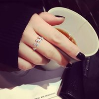 Wedding Rings 925 Sterling Silver For Women 2021 Fashion Jewelry Clover Cubic Zirconia Crystal Female Party Christmas Gift