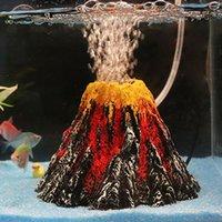 Volcano Quario Forma IR BUBBLE PIETRE PIETRA POMPA OSSIGENCIO POMPA PESCITOR SERBATORE ORNORMENT Pompa di ossigeno Pompe di pesce carro armato ornamento di pesce serbatoio ornamenti