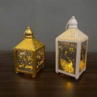 Eid Mubarak Décoration de la lumière Ramadan Light String LED Battery Boîte de batterie Lanterne Arabe God Lantern Huile Lampe de lampe de palais
