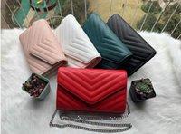 2021 Frauen Handtaschen Kaviar Metallkette Gold Silber Handtasche Ledertasche Flip Cover Diagonal Umhängetaschen Brieftasche