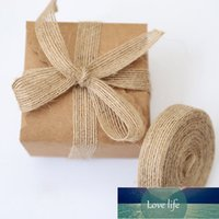 Party 5m Natural Hemp Rope Ribbon Line Trim Tape Roll Burlap Vintage Rustic Wedding Decoration Supplies