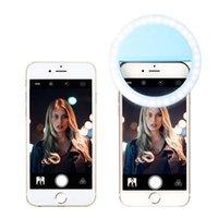RK12 충전식 LED Selfie 라이트 아이폰 11 유니버설 셀프 램프 휴대 전화 렌즈 휴대용 플래시 링 삼성 S20 Huawei 소매 상자