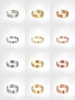 ラブネジリングメンズバンドリング3ダイヤモンド2021デザイナーラグジュアリージュエリー女性チタン鋼合金ゴールドメッキクラフトゴールドシルバーローズは決してフェードアレルギー