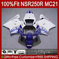 OEM-Injektion für Honda NSR250 blau glänzend NSR 250 R MC21 PGM3 NSR250R 90 91 92 93 103HC.37 NSR 250R NSR250RR 1990 1991 1992 1993 Verkleidungen