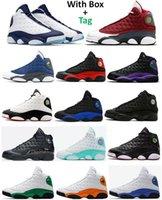 13 Koyu Toz Mavi Kırmızı Flint Mavi Flint 3 M Yansıtıcı Basketbol Ayakkabıları 13 S Playoff Şanslı Yeşil Denizyıldızı Altın Glitter Siyah Kedi Erkek Kadın Sneakers