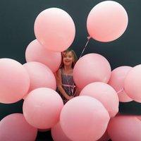5/10/18/36 pouces gros gros ballons roses jumbo rond mate air ballons de ballon pastel baby douton de mariage anniversaire decoration