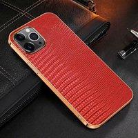 Padrão de lagarto Casos de telefone de couro para iPhone 13 12 11 Pro Max XS XR x 8 7 mais três capa anti-móvel para huocawei mate 40rs caso