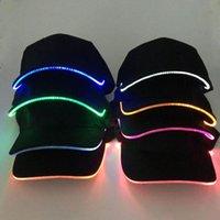 Gorras de bola Moda Unisex Color sólido LED LED Luminoso Sombrero de Béisbol Fiesta de Navidad Casquillo Pico Ajustable Deportes En Verano Mujeres Hombres