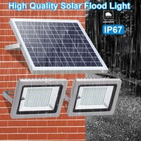 Solar Lamps Flood Light Double Head Lights with IR Remote Control Waterproof IP65 Garden Path Street Solar Landscape Light In Stock