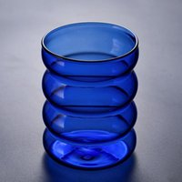 Wine Glasses 300ml Stained Glass Cup Coffee milks juice For Home Daily Use Gift Birthday Wedding @ls