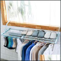 Laundry Clothing Racks Housekee Organization Home & Gardenlaundry Bags Outside Window Shoe-Drying Rack Balcony Shoe-Hanging Pillow Device Mt