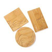 Натуральная древесина круглая квадратная чашка коврик бамбуковая ремешка для приставок смолы моделей 113cb