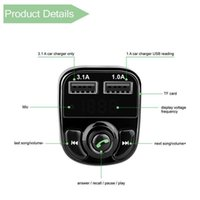 X8 FM Transmitter Aux Modulator Bluetooth Handsfree Car Kit Car Audio MP3 Player with 3.1A Quick Charge Dual USB Car Charger Acc