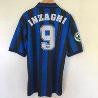 Ретро Atalanta 1996-97 футбольные трикотажки Inzaghi Lentini классический футбол старинный футбол CamiSeta рубашка Maillot Maglia
