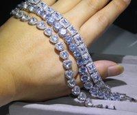 3 Stil Victoria Luxus Schmuck Shinning 925 Sterling Silber Full Princess Cut Weiß Topas CZ Diamond Rumänien Hochzeit Armband für Frauen