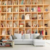 Sfondi Drop Gloss Personalizzato Books Bookshelves libreria Libreria 3D Stereo Backdrop Decorativo Pittura murale Camera da letto studio