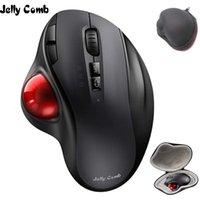 Tastiera mouse combo jelly pettine bluetooth trackball con sacchetto protettivo verticale disegno professionale topi laser ergonomici Bluetooth2.4g