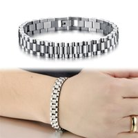 Link, Chain Men Bracelet Jewelry Stainless Steel Bracelets For Watch Bangles Fashion Design Gift