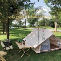 Tents And Shelters 2021 Outdoor Luxury Tent Nordic Retro Cotton White Bear Hut Small House Camping Light Double Tech