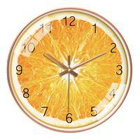 Horloges murales Creative Nordic Moderne Design Minimaliste Verre Fruit Verre Digital Salon Wand Klok Accueil Decor Qab50wc