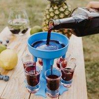 6 Schuss Glas Spender Halter Wein Glasgestell Kühler Bier Beverage Dispenser Shot Buddys Party Geschenke Bar Trinkwerkzeuge AHF5080