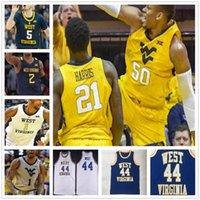 NCAA College West Virginia WVU Basketball-Jersey Benutzerdefinierte 4 Miles McBride 34 Oscar Tshiebwe 1 Derek Culver Jeder Name Jede nähige Anzahl genäht