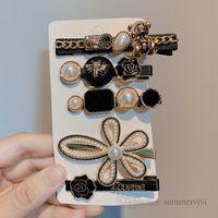 女の子真珠の花髪のクリップブティックキッズローズプリンセスヘアピンデザイナー女性のバレット子供誕生日パーソディリーQ0881