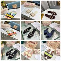 2021 Женщина Джинсовые тапочки FALT Обуви Сандалии Beach Слайд Высококачественные тапочки Мода Duffs Тапочки для Леди по Shoe02 01