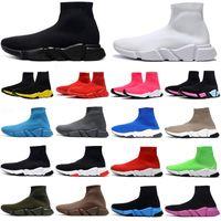 남성 여성 플랫폼 신발 속도 트레이너 양말 부츠 양말 망 트레이너 부팅 패션 캐주얼 캐주얼 Balck Womens 신발 Red Balencaiga Balencaica Balenciagas Sneakers