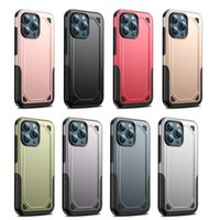 Premium TPU +PC Cell Phone Cases For iPhone 13 12 11 XS XR Airbag Fall Protection Anti-drop Shockproof Mobilephone Cellphone Protective Cover DHL Free