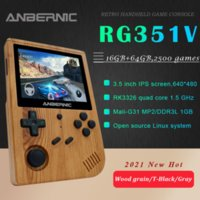 ANBERNIC New RG351V Retro Games Built-in 16G RK3326 Open Source 3.5 INCH 640*480 Handheld Game Console Emulator for PS1 Kids Gift