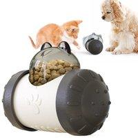 Perros gatos fugas de alimentos Alimentador lento Swing Bear Forma Perro Perro Juguete Puzzle Interactivo IQ Trate Dispensador Pet Perseguir Ball