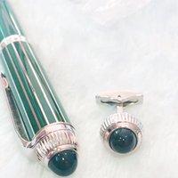 Высокое качество манжеты ювелирные изделия мода подарочная ручка продвижение шариковые ручки с парой хрустальные мужчины Френш запонки