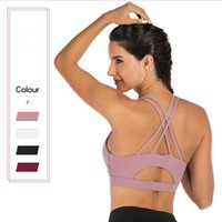 Gym Clothing Sexy Women Sports Bra Cross Belt Seamless Brathable Tank Top Push Up Female Fitness Running Suit Yoga