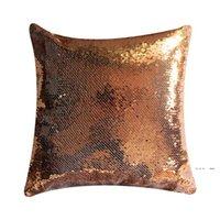 Süblimasyon Pullu Yastık Kılıfı Renkli Mermaid Yastık Kılıfı Theramal Thransfer Yastık Yastık Boyası Boş Pullu Yastıklar EWF5468