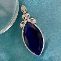 HBP Moda Shipai Jewelry Atmosférico Artificial Azul Grande Cavalo Olho Zircon Pingente Colar Novos Acessórios